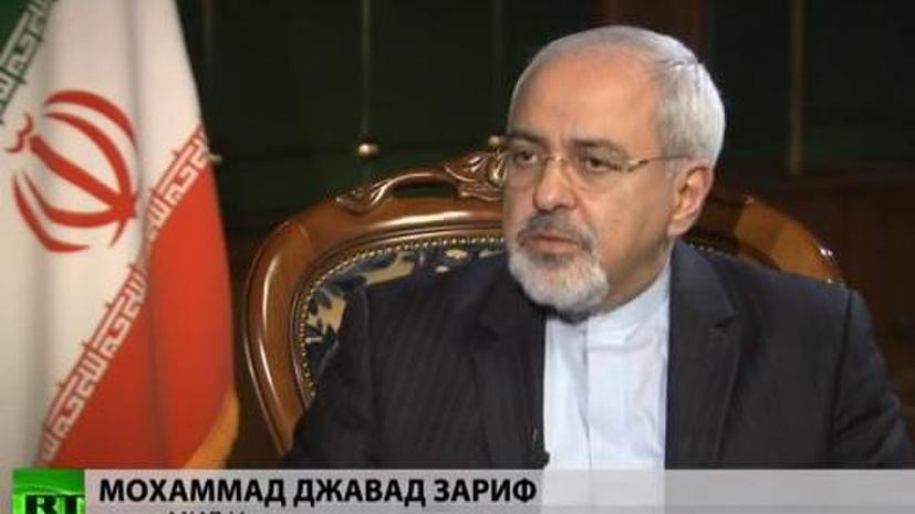 Министр иностранных дел Ирана Мохаммад Джавад Зариф дал эксклюзивное интервью RT