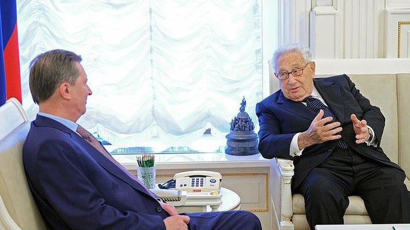 Сергей Иванов встретился с бывшим госсекретарём США Генри Киссинджером