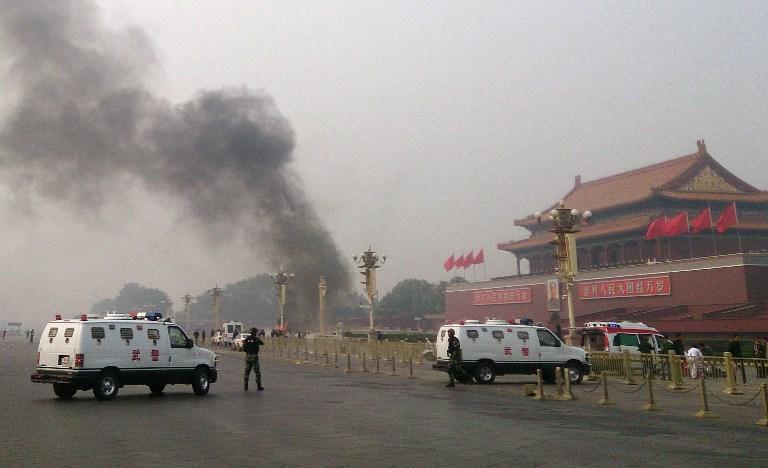 Китай объявил автокатастрофу на площади в Пекине терактом