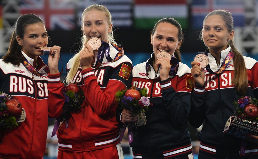 Сборная России досрочно одержала триумфальную победу на Европейских играх 2015 года