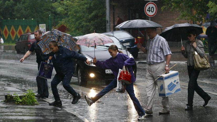 Ливни и грозы накрыли крупнейшие города России