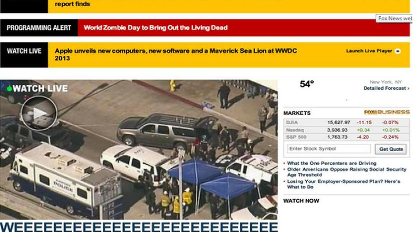 Сайт телеканала Fox News по ошибке объявил о нашествии зомби
