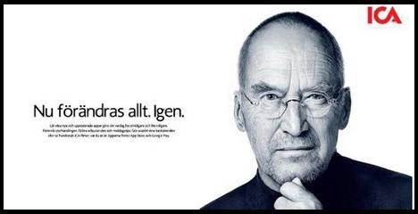 Экспертов и блогеров возмутила пародия на Стива Джобса в рекламе шведской торговой сети
