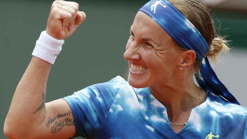 Светлана Кузнецова вышла в 1/4 финала Roland Garros