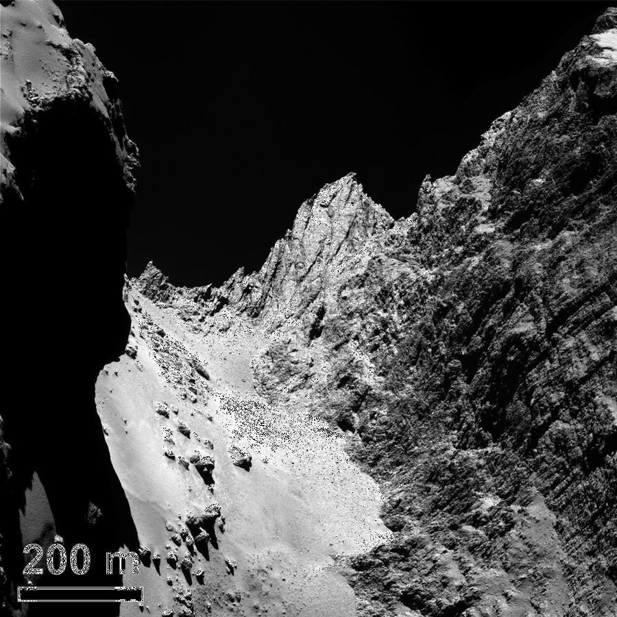 Высокие горы и глубокие кратеры: учёные опубликовали подробные данные о комете Чурюмова-Герасименко