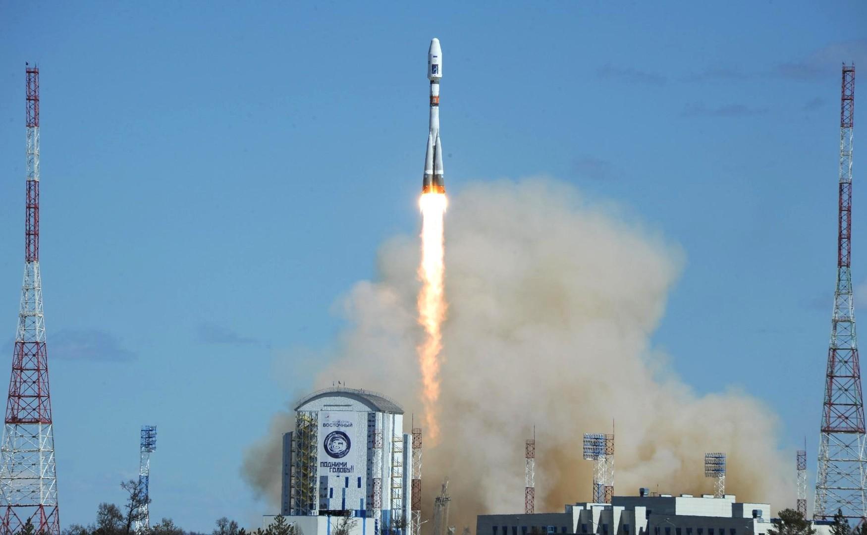Запуск ракеты-носителя «Союз-2.1а» с космодрома Восточный