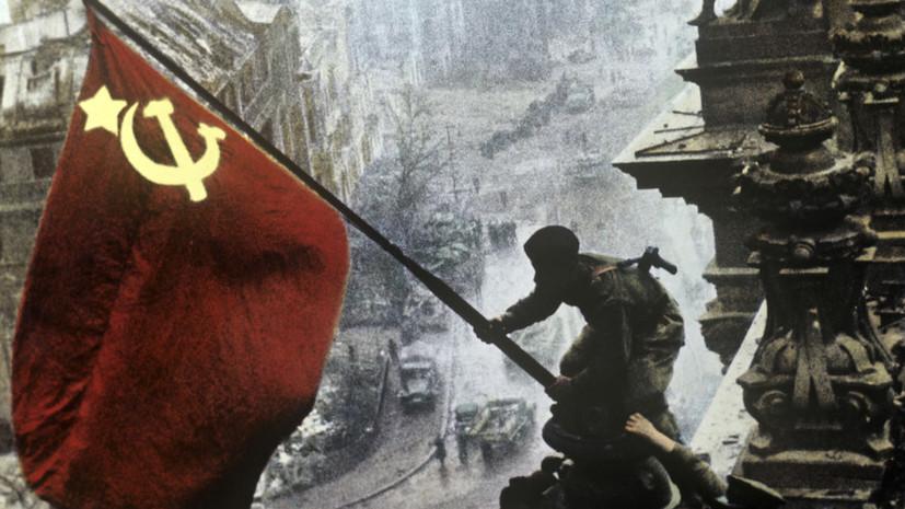 Украинская оппозиция выступает за отмену запрета на Знамя Победы