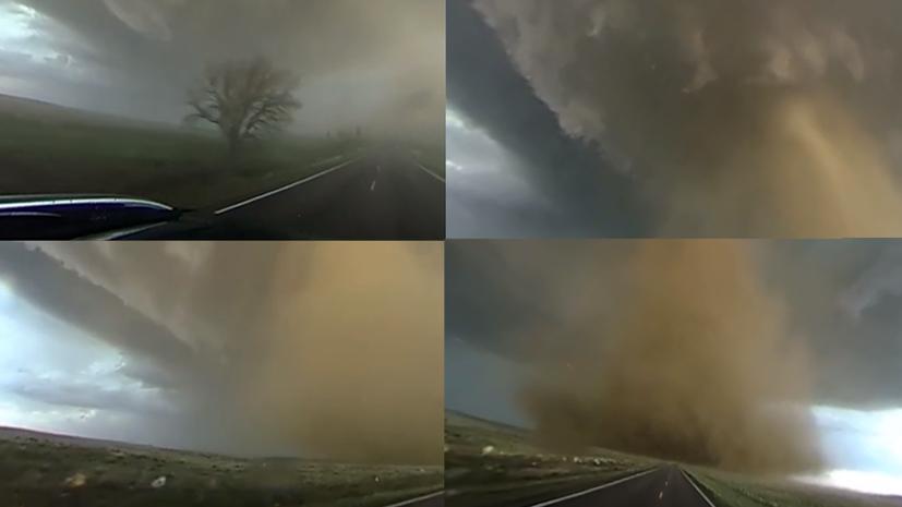 Видео 360: Охотник за бурями запечатлел торнадо в Колорадо