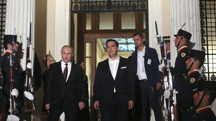 ПРО в Европе, Крым и Савченко: о чём говорил Путин в Афинах