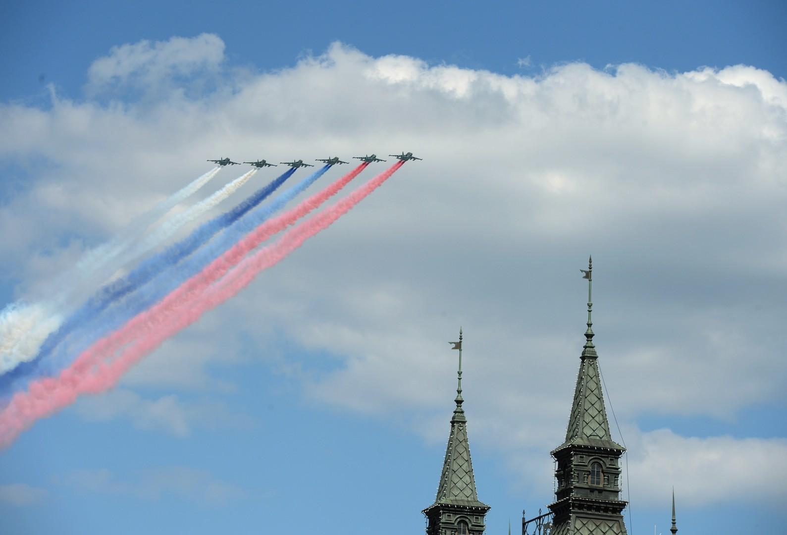 Генеральная репетиция парада Победы в Москве