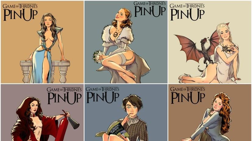 Художник из России представил серию пинап-изображений по мотивам «Игры престолов»