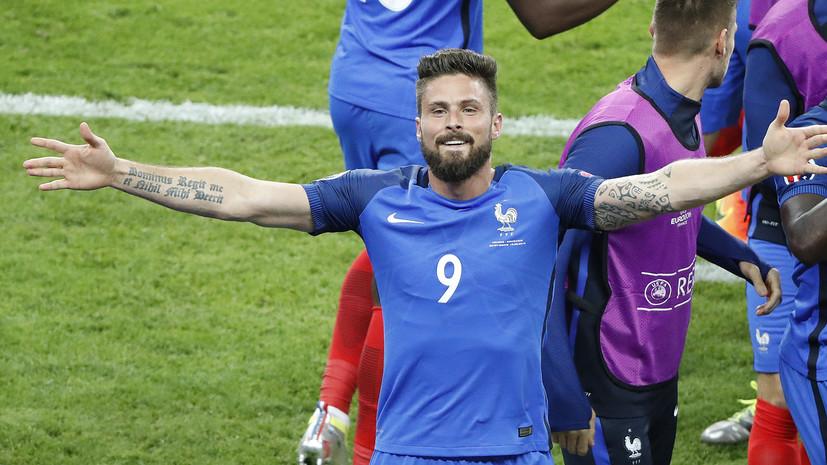 Сборная Франции открыла счёт в матче против Румынии