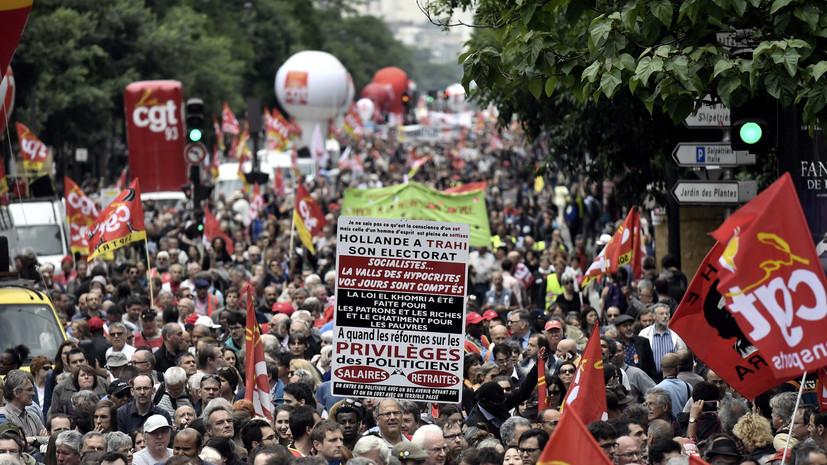 В Париже возобновились протесты, на улицы вышли десятки тысяч человек