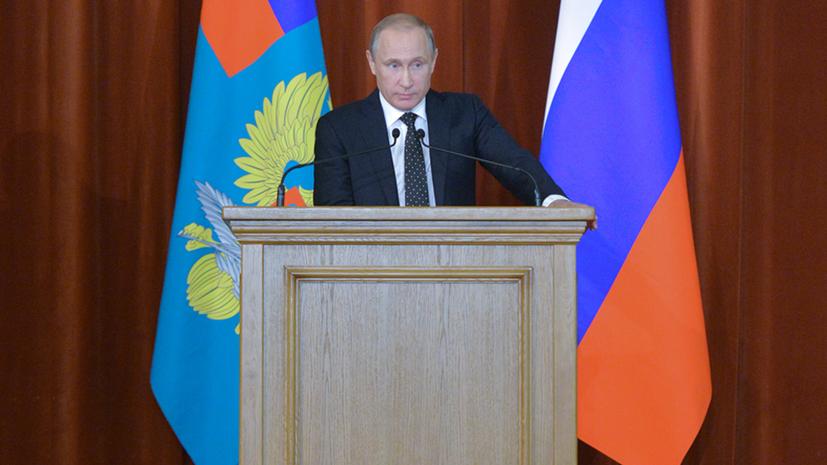 Владимир Путин: Исход борьбы с «Исламским государством» решается в Сирии