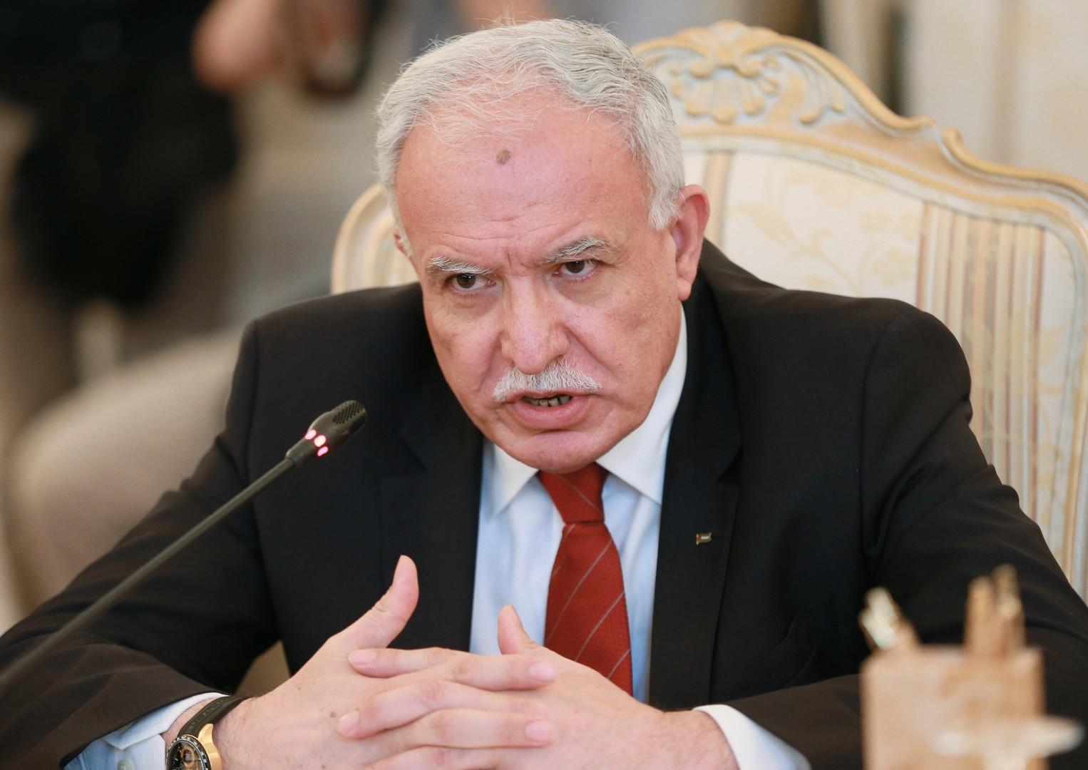 Глава МИД Палестины — RT: Мы приветствуем ведущую роль Москвы в урегулировании конфликтов