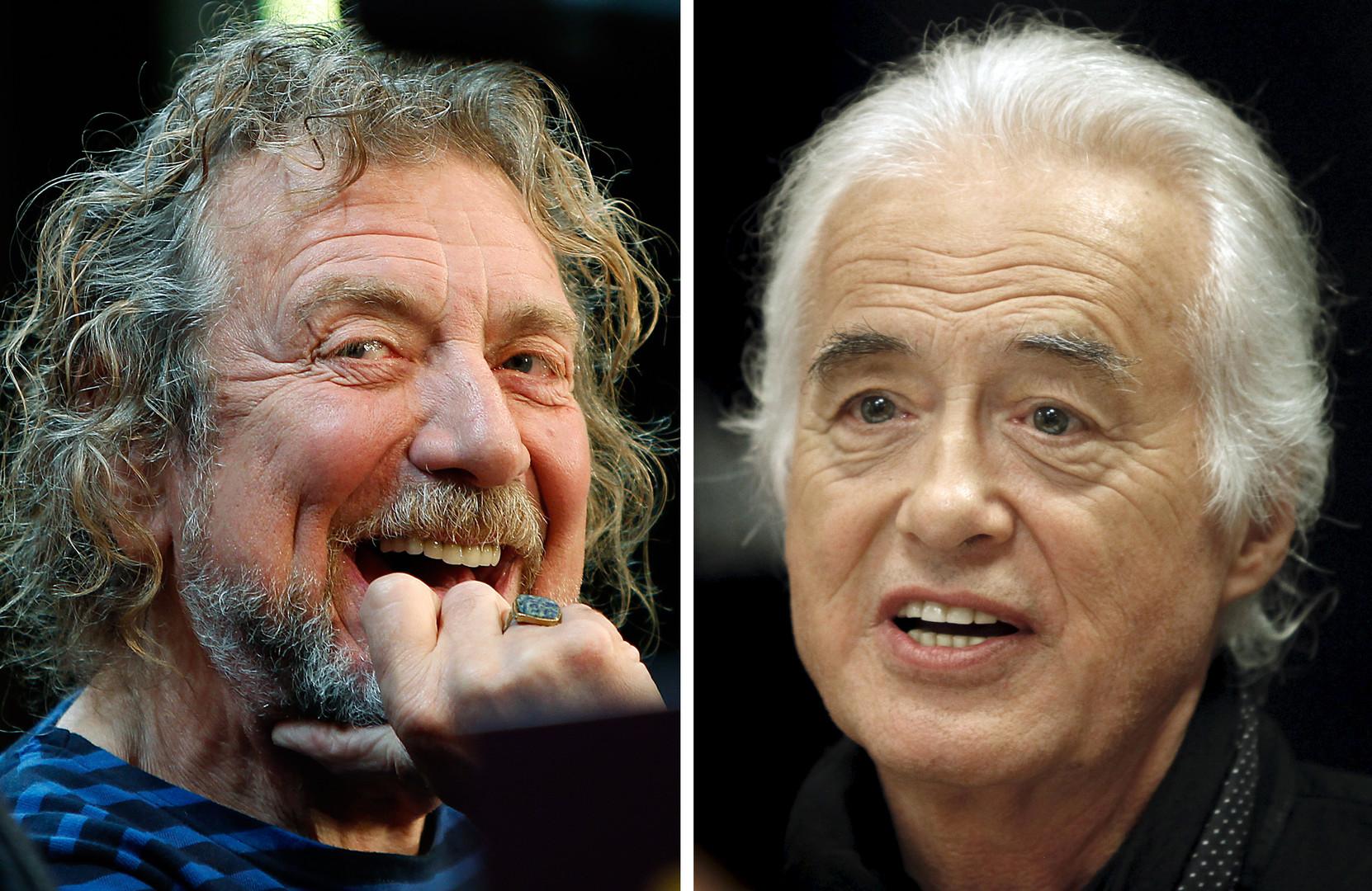 Основатели группы Led Zeppelin Джимми Пейдж и Роберт Плант