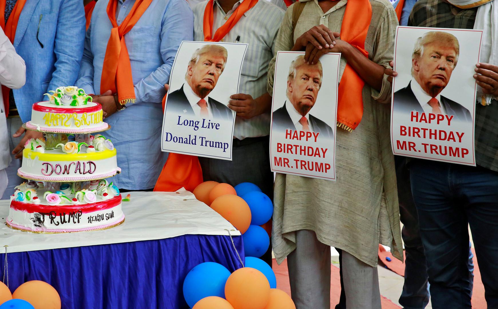 День рождения буржуя. Трампу 70