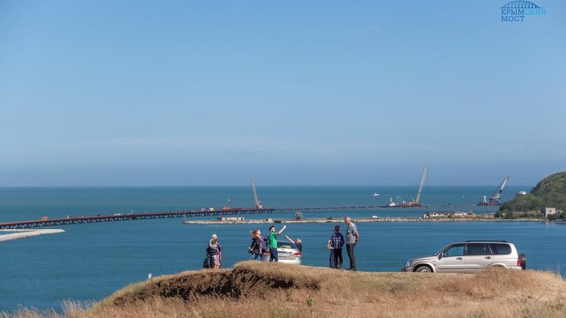 Крымский мост за 60 секунд: опубликовано новое видео со стройки