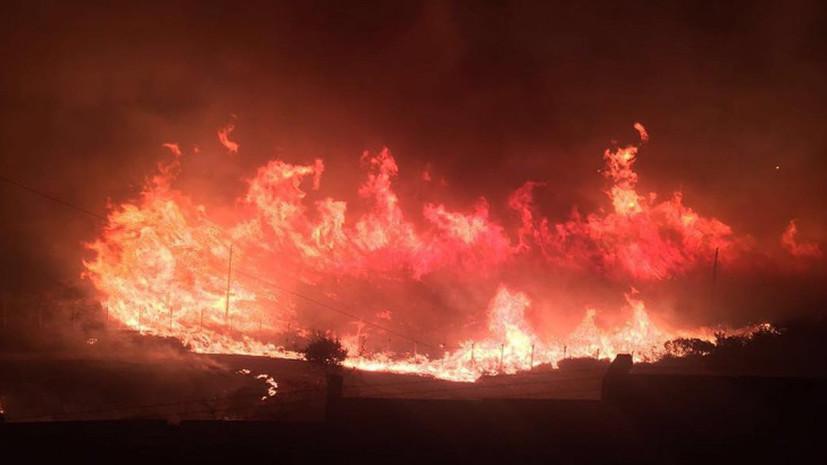 Масштабный пожар произошёл у базы НАТО в турецком Измире
