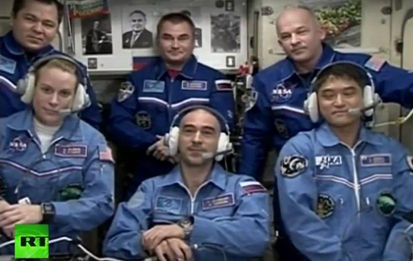 Видеоконференция нового экипажа МКС – прямая трансляция