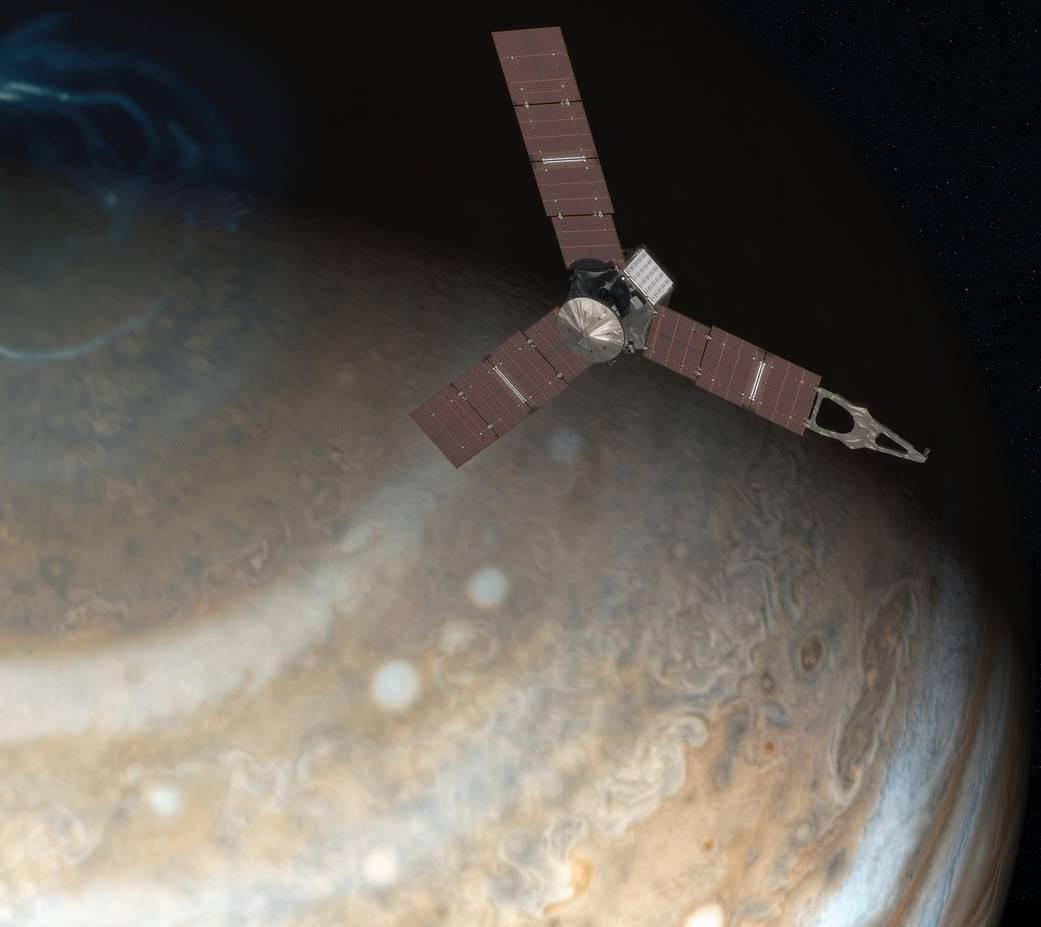 NASA опубликовало первый снимок Юпитера, сделанный зондом Juno