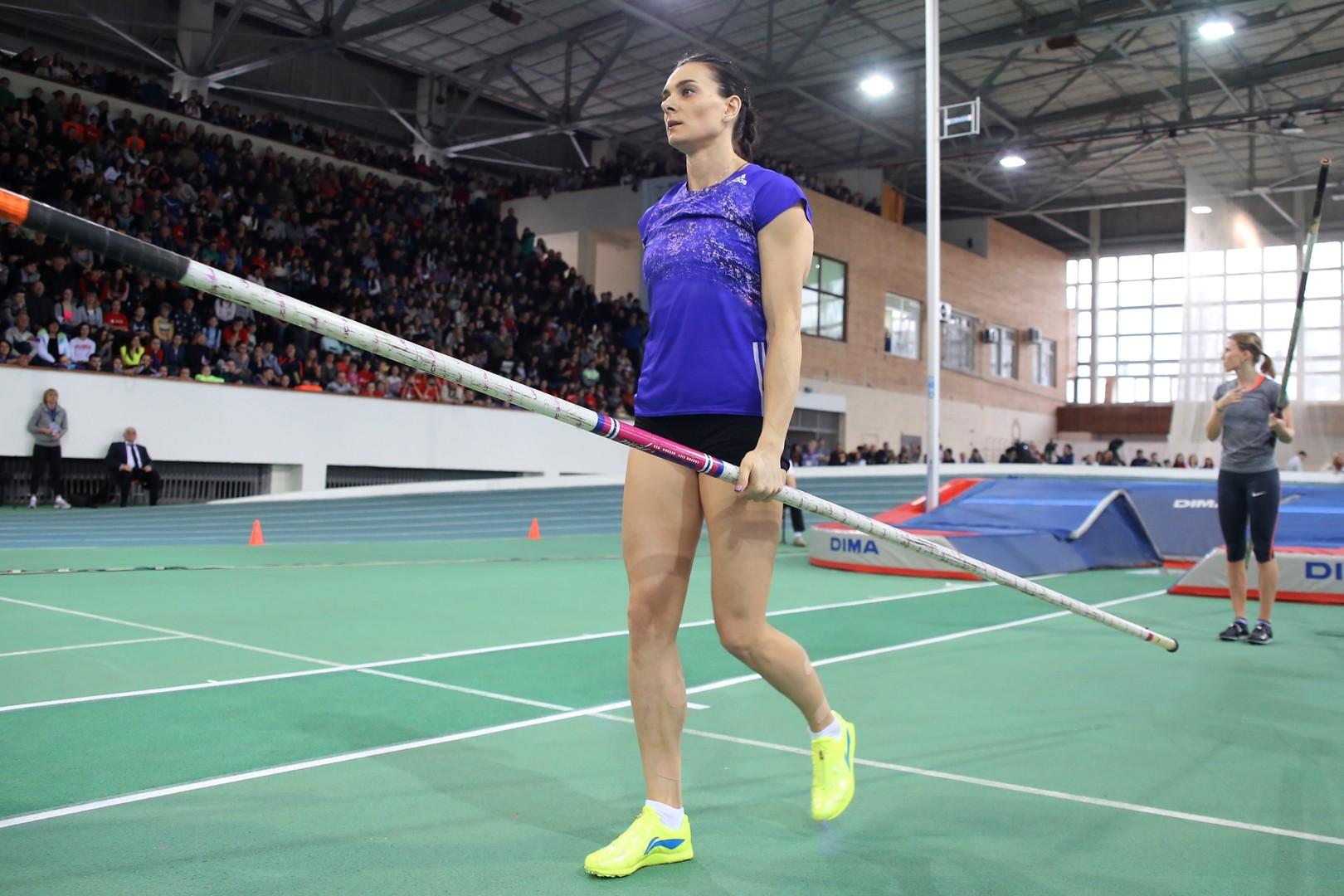Елена Исинбаева не примет участия в турнире для отстранённых от Олимпиады атлетов