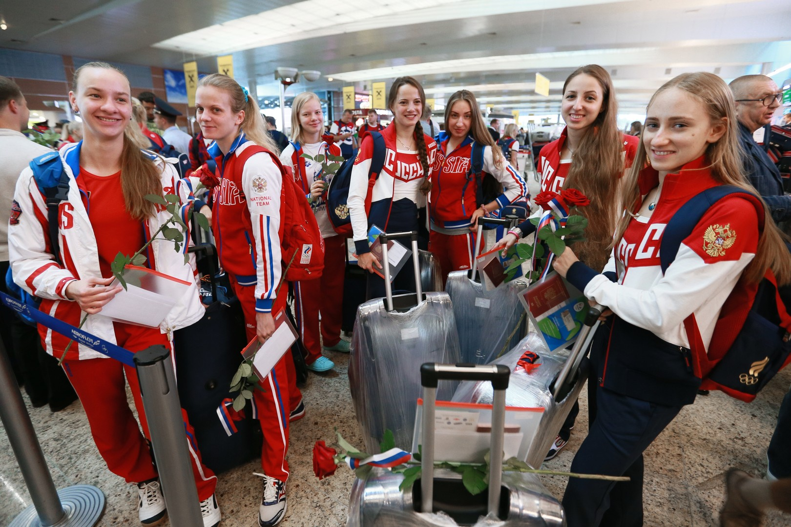 Российская сборная отправилась на Олимпиаду в Рио