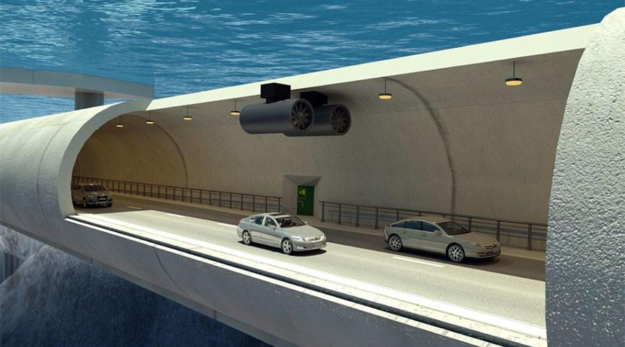 В Норвегии намерены построить первый в мире подводный тоннель