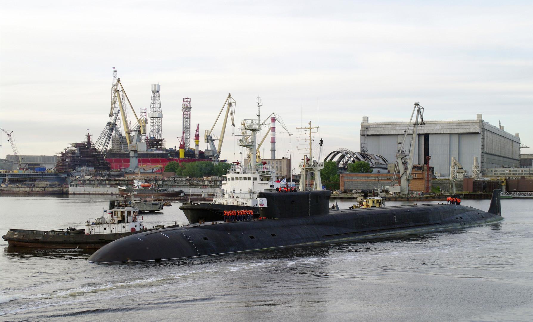 Атомная подводная лодка стратегического назначения К-535 «Юрий Долгорукий» в Северодвинске