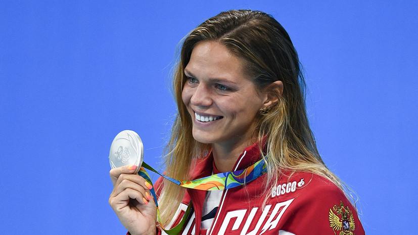 Юлия Ефимова завоевала ещё одну серебряную медаль в плавании