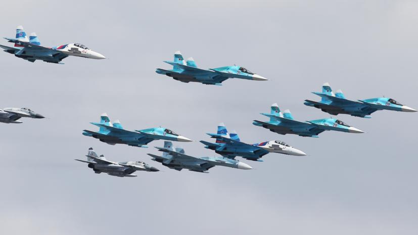 Истребители МиГ-29 и Су-34 ВКС РФ отработали воздушный бой в стратосфере