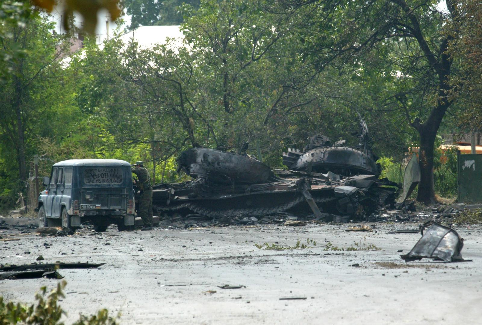 На улицах Цхинвала после обстрела