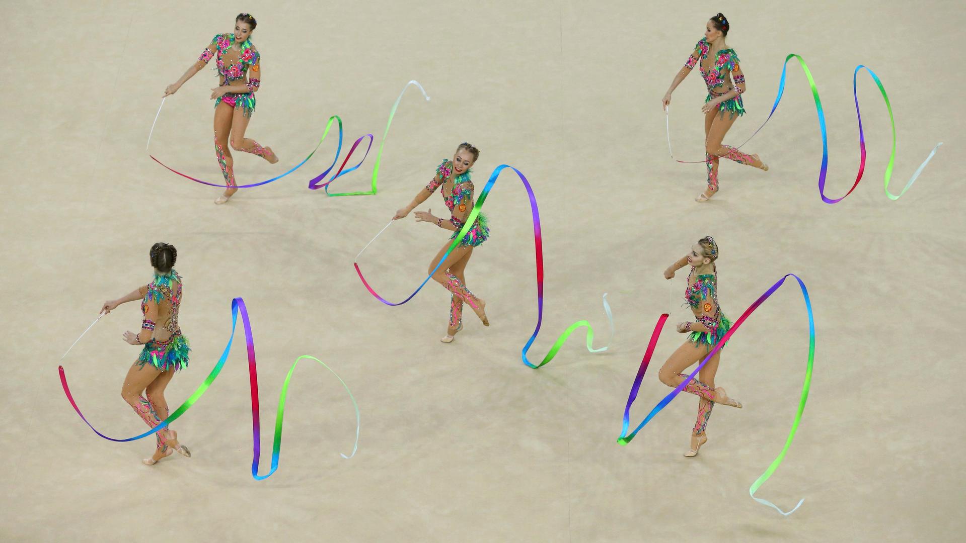 Сборная России по художественной гимнастике выиграла золото в Рио