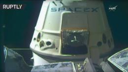 Отстыковка грузового космического корабля Dragon от МКС