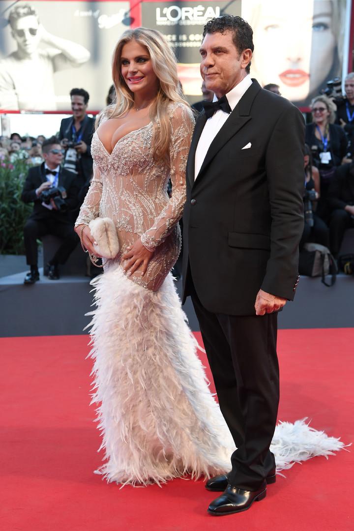 Итальянская актриса Франческа Киприани и её спутник предприниматель Джованни Коттоне