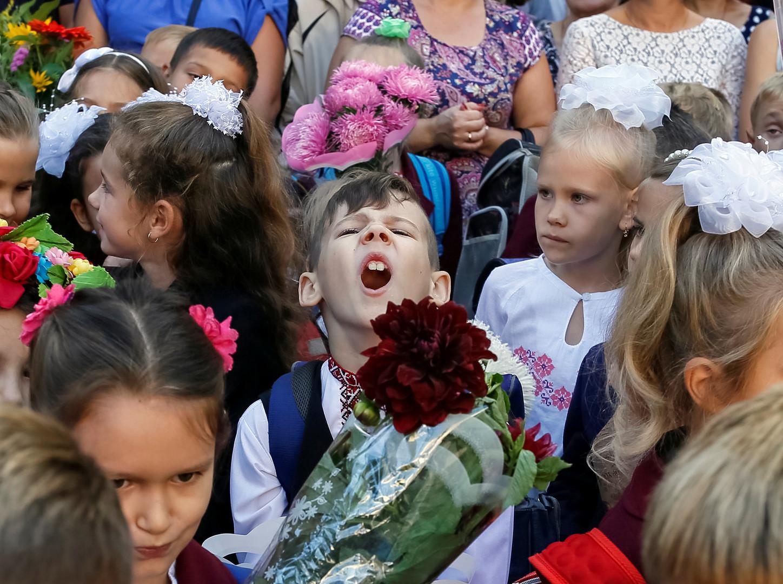 Первоклассники в Киеве