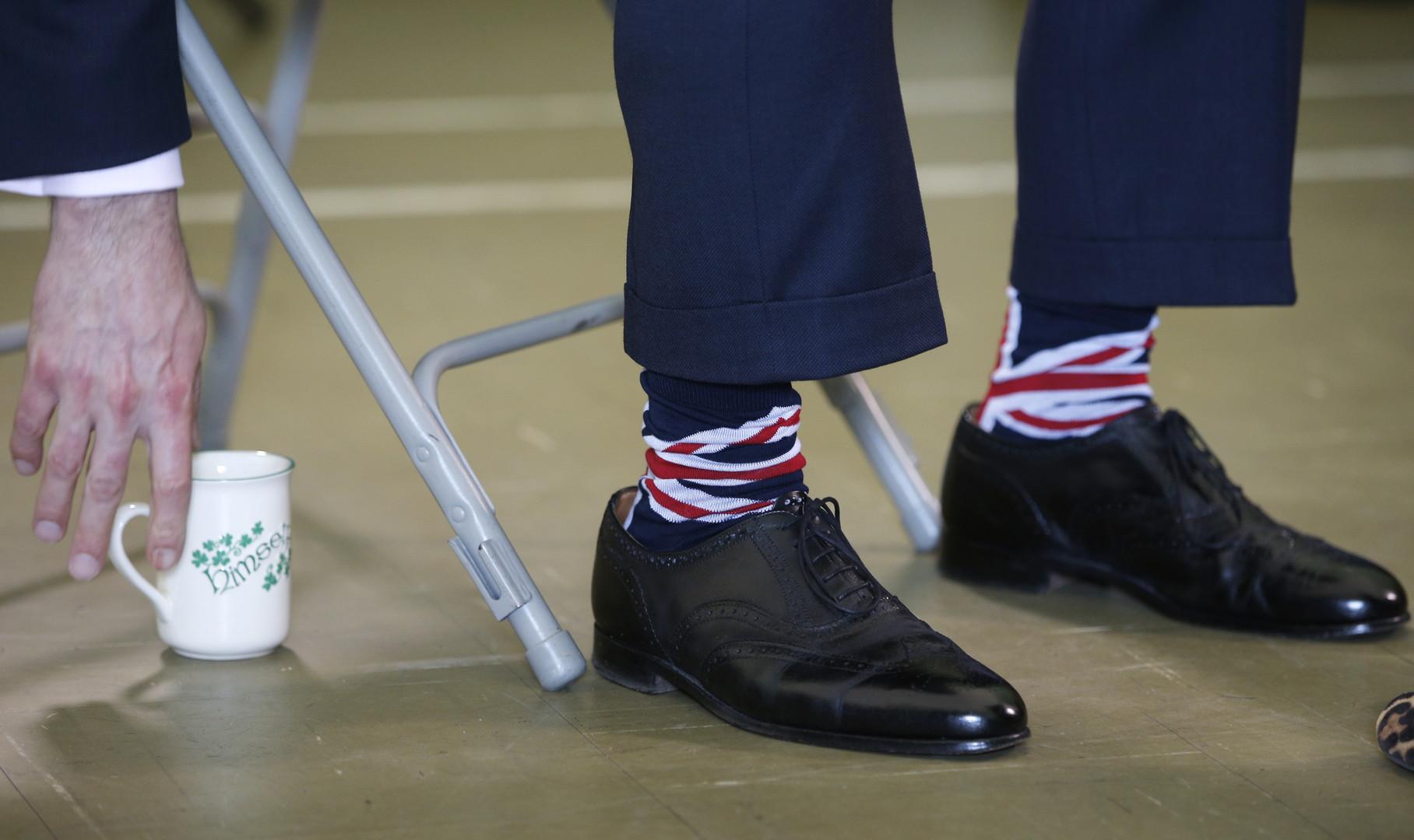 Найджел Фарадж на встрече с избирателями в графстве Эссекс.