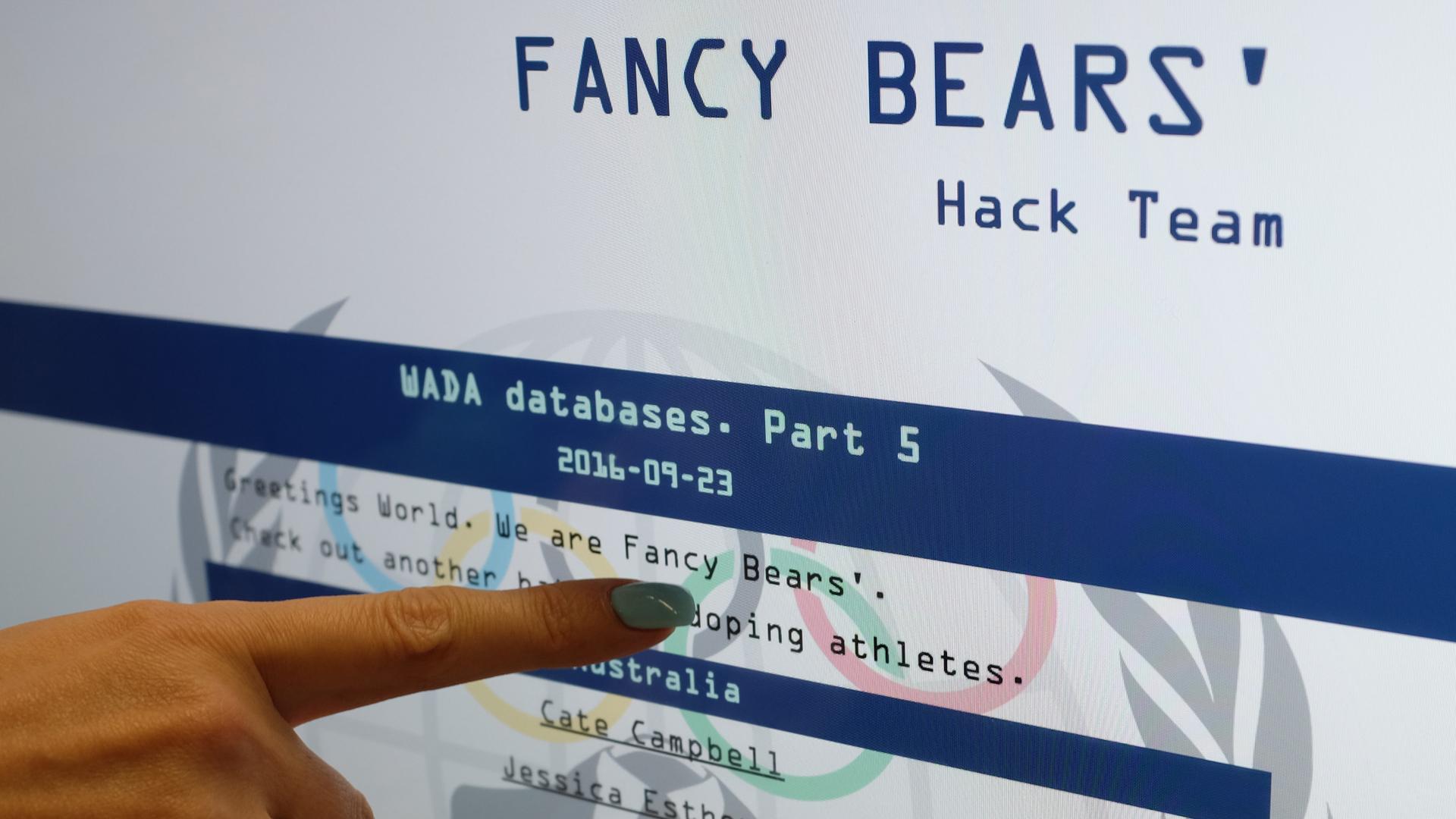 Хакеры Fancy Bears уличили ещё 41 спортсмена в употреблении допинга