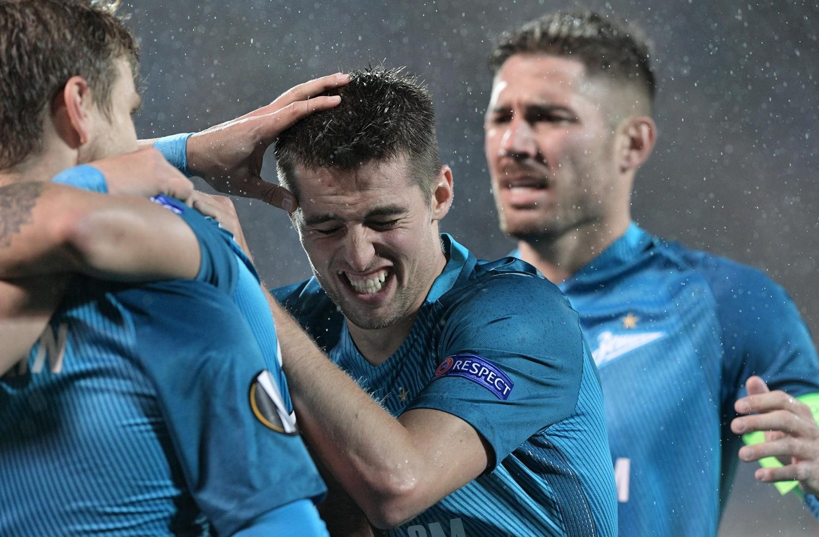 В десятку: «Зенит» и «Краснодар» забили по пять мячей в Лиге Европы