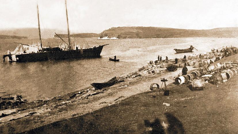 Погибшее судно «Потапов».1901 год