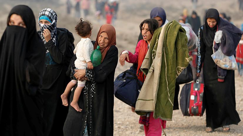 Исход из Мосула: ВОЗ спрогнозировала увеличение числа беженцев до 700 тысяч