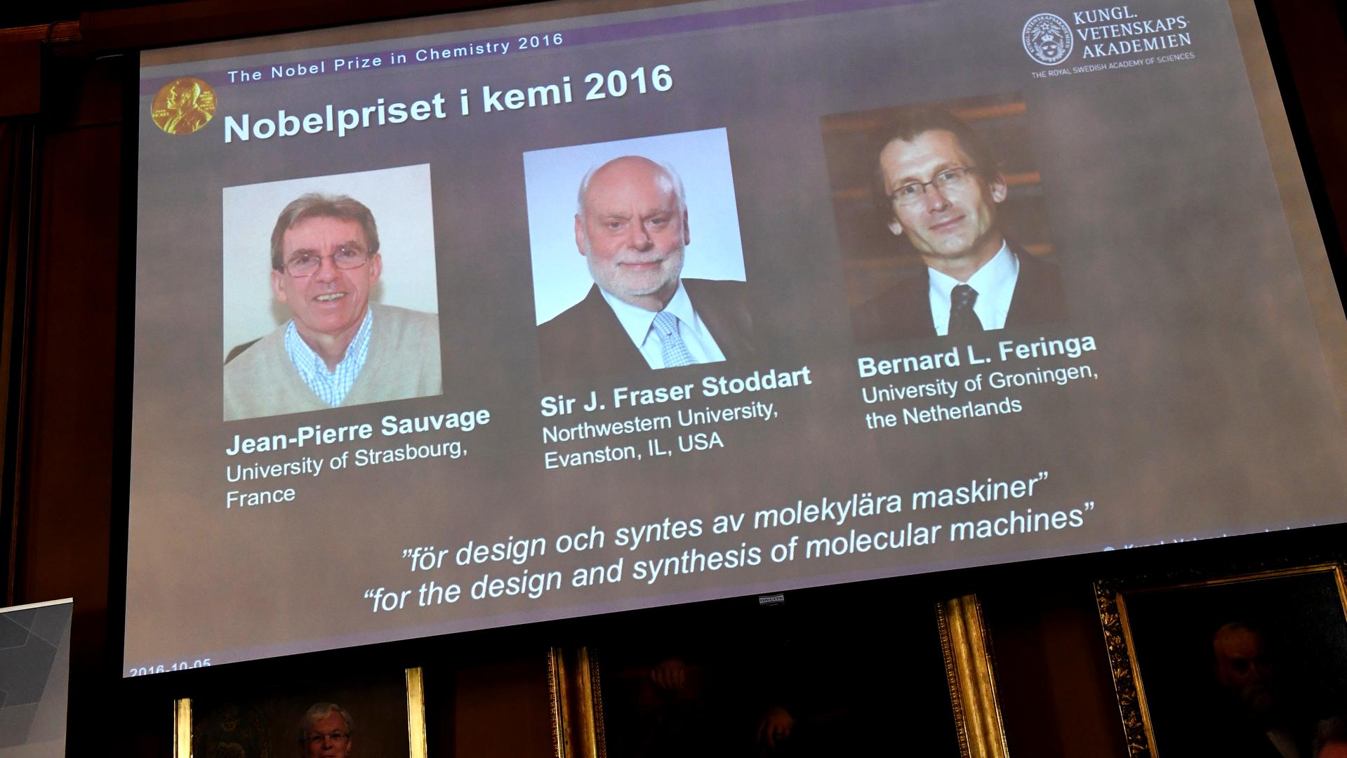 Награда за крошечный лифт: кому достался Нобель по химии