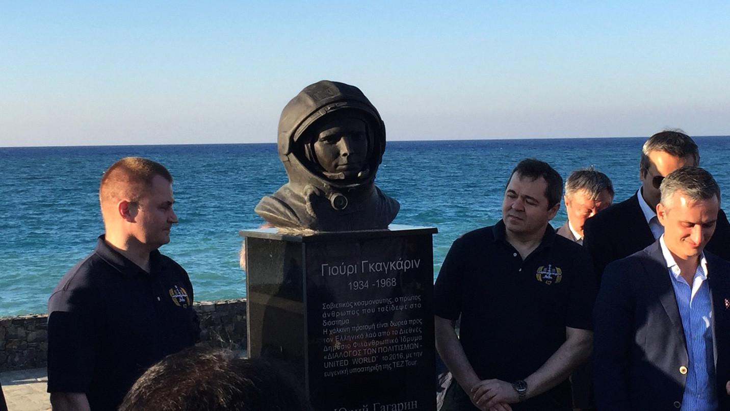 «Счастлив, что 55-летие полёта Гагарина совпало с визитом»: космонавт о поездке на Крит