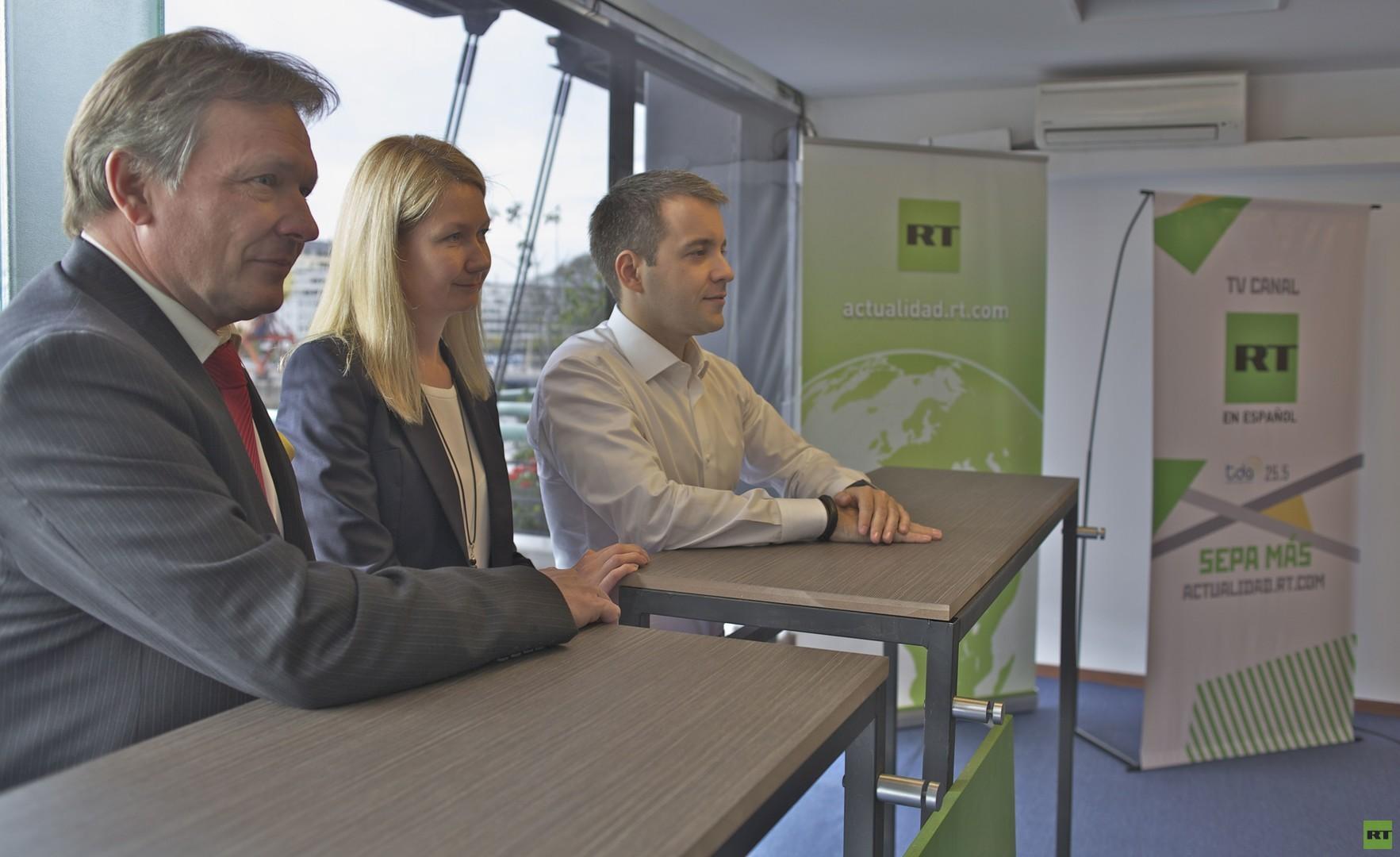 Глава Минкомсвязи России посетил офис RT на испанском