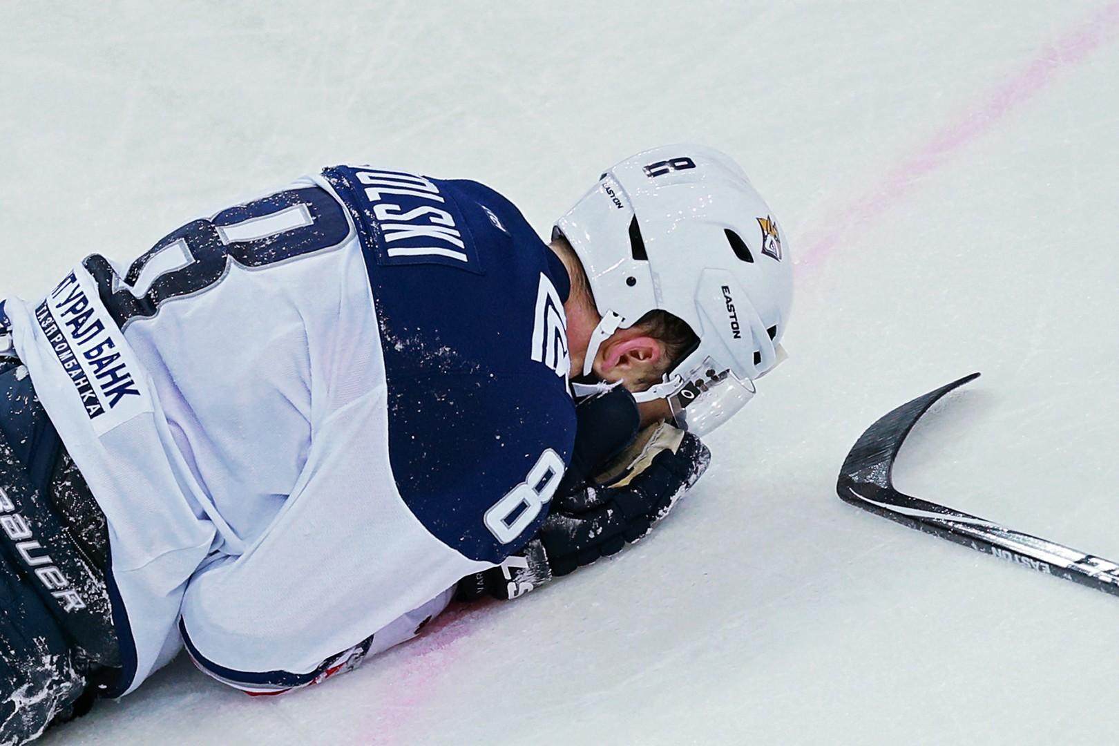 С площадки в реанимацию: хоккеист магнитогорского «Металлурга» получил серьёзную травму