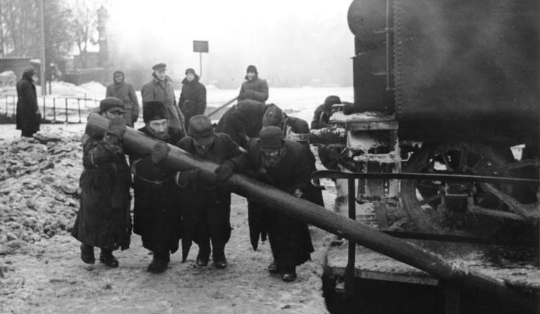 Евреи на принудительных работах в Минске. Февраль 1942 года