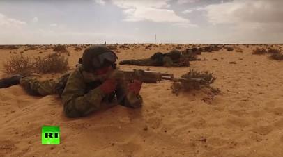 Съёмка с беспилотника: российско-египетские антитеррористические учения