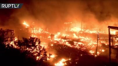 «Джунгли» в огне: пожар в лагере беженцев в Кале