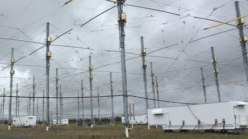 Антенное поле установки HAARP