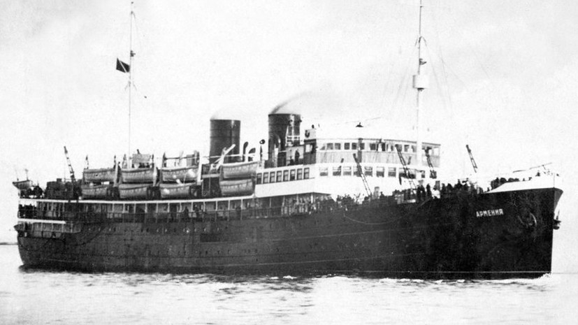 Гибель «Армении»: история теплохода, затопленного немецкими войсками в Чёрном море